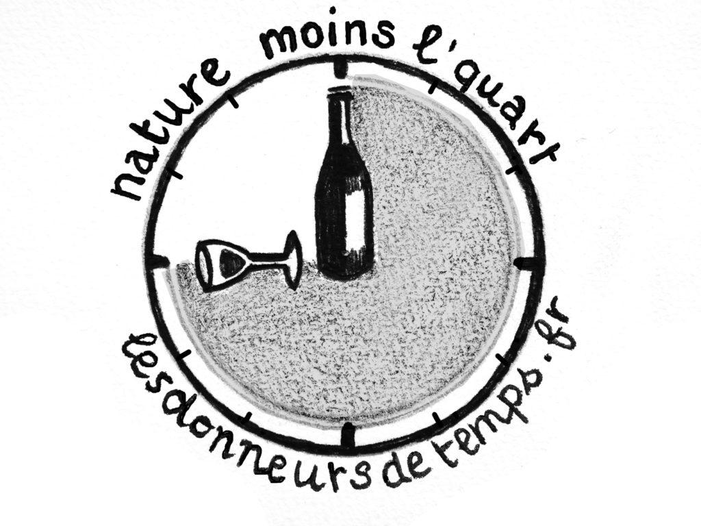 logo représentant le vin nature moins le quart